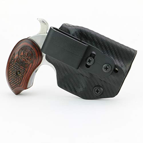 FoxX Holsters 'Deluxe Trapp Kydex IWB Holster - Bond Arms Snake Slayer 45 Colt/410 Smallest Inside Waistband Holster Adjustable Cant & Retention, Concealed Carry Holster Tuckable
