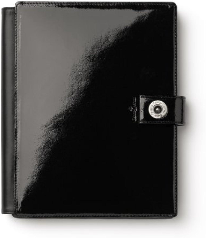 Schreibmappe A5 Design schwarz Lack, B0089IVCQQ | | | Günstige  1b0d34