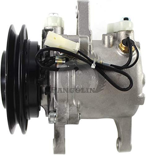 Compresor de aire acondicionado con interruptor de presión AC compresor para Kubota M8540 M9540 Tractor Air Conditioner Compressor de...
