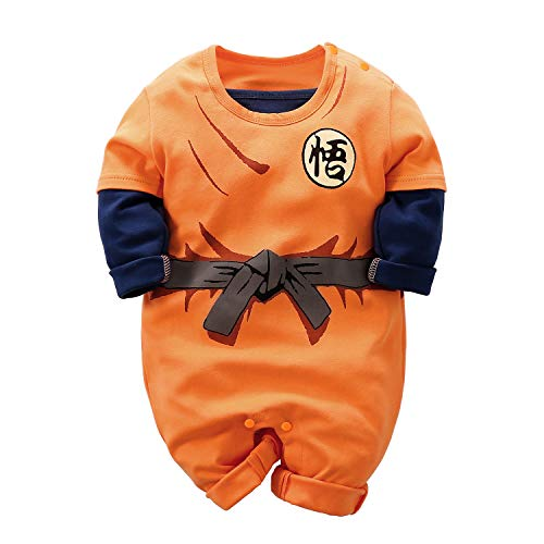 Mono para bebé recién Nacido Goku de Manga Corta con dise