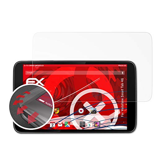 atFolix Schutzfolie kompatibel mit Vodafone Smart Tab 4G Folie, entspiegelnde & Flexible FX Bildschirmschutzfolie (2X)
