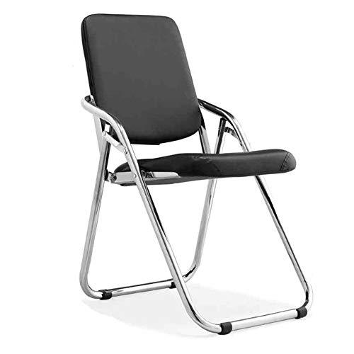 QIDI Chaise Pliante, Chaise Longue, Chaise d'ordinateur, Chaise de Salle à Manger, Chaise de Bureau, Chaise de conférence, Pliable - 49 * 51 * 78cm - Noir (Couleur : Noir)