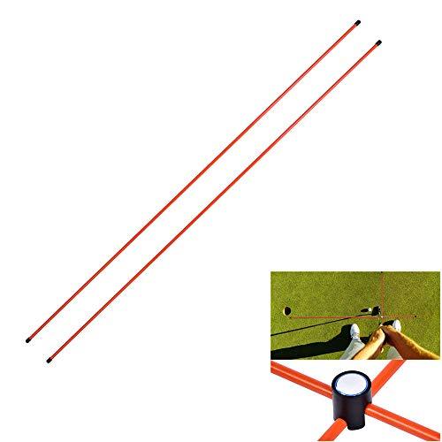 Cocoarm Golf Alignment Sticks Golf Trainingshilfe 1 Paar Golf Swing Trainer Aid Golf Alignment Rods f¨¹r alle Level Golfer Fortgeschrittene Anf?nger Rechtsh?nder Linksh?nder M?nner Frauen Junioren