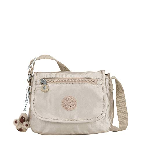 Kipling Sabian Metallic Crossbody Mini Bag Gleaming Gold Metallic