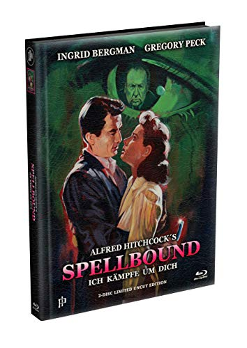 Alfred Hitchcock´s - ICH KÄMPFE UM DICH (Spellbound) 1945 - 2-Disc wattiertes Mediabook Cover A [Blu-ray + DVD] Limited 500 Edition - Uncut