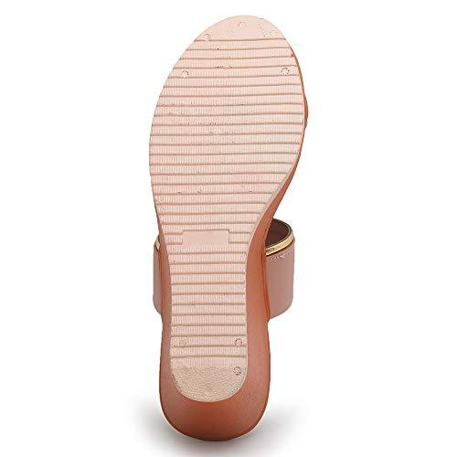 Myra Women's Toe-ring Ankle Strap Heel Wedges - MS1183C