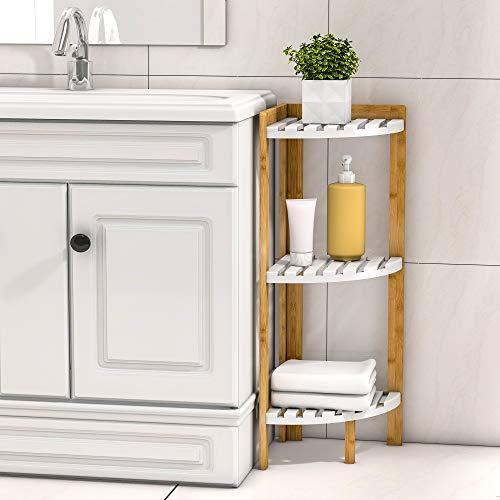 Corner Shelf Stand 3 Tier - Corner Stand for Corner Display and Storage in Bathroom, Living Room, Bedroom