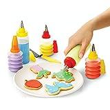 Y&J Set de decoración de Pasteles, 5 Botellas Decorativas, 1 espátula de glaseado, 5 Bocas de decoración de Acero Inoxidable, para Decorar Pasteles y diseñar Otros Productos horneados