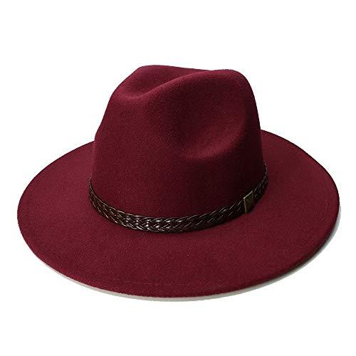 SHENTIANWEI Sombrero de Lana Jazz Sombreros de ala Grande Fieltro Cloc