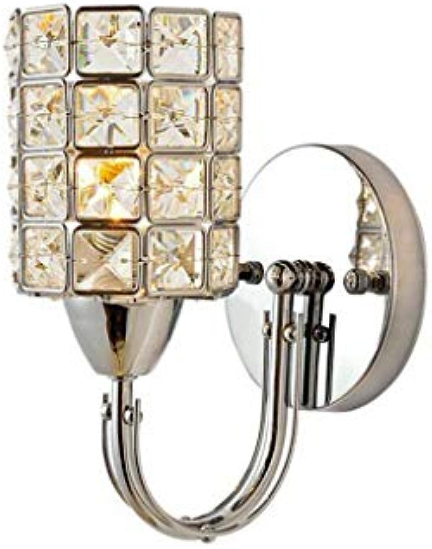 ZHYXZ Kristall Wand LED, Nachttischlampe Diamant Haus Hotel Zimmer Gangway K9 Dekoration Lampen Hochzeit Zimmer Farbe Kristall Chrom 12  38 cm Schatten