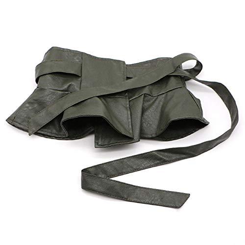 Kleid Jeans praktischen Gürtel kurzen Rock Riemen Damen breiten Bund Hemdkleid dekorativen Rock Schaukel breiten Gürtel, 75-90cm, grün