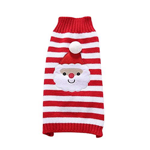 DHYED Kleidung für Haustiere, Weihnachten Haustier Kleidung, Winterqualität, Drei Muster, geeignet für Hund und Katze, für kleine Haustiere