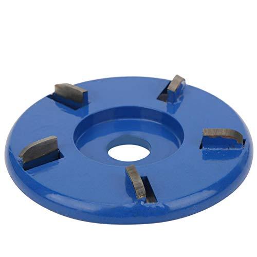 FOLOSAFENAR Hoja de Tallado de Acero de aleación de Alta dureza Disco de Corte de Madera Función de Pulido controlable 5 Dientes para pulir Madera(Blue)