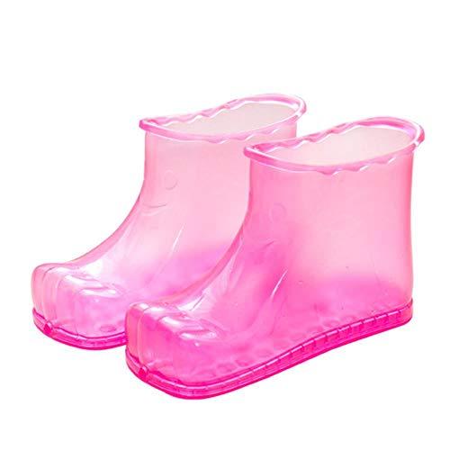 Bain de pieds Bottes de Massage SPA Ménage Relaxation Seau Bottes Pieds Soins Chaud Compres Chaussures GHS99, Rouge 18 cm