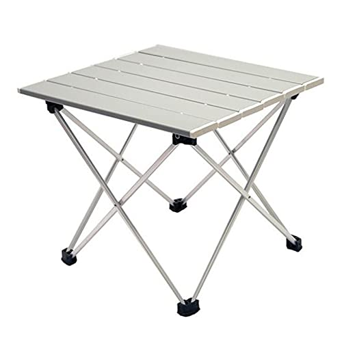 Sogaml Mesa de camping plegable, mesas auxiliares portátiles de camping con tapas de mesa de aluminio, ultraligera compacta para la playa al aire libre, barbacoa, picnic cocina