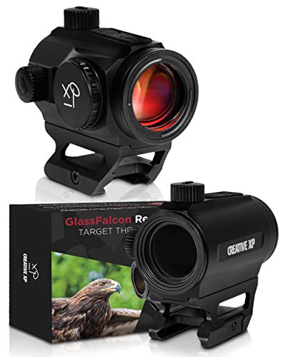 HD Red Dot Sight 3 MOA – Tactical Reflex Sight for Day & Night Time – Easy to Zero on a Rifle - Picatinny Rail Mount, Lifetime Battery Replacement - GlassFalcon