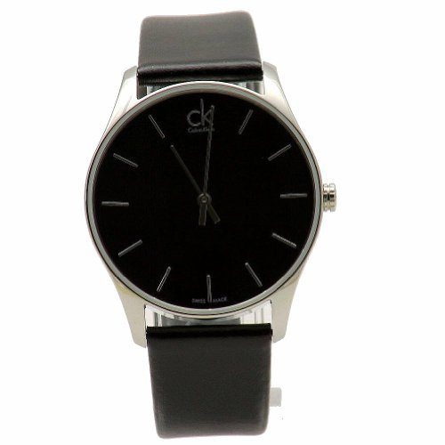 Calvin Klein CK Hombres de Negro clásico Vestido Reloj K4D211C1