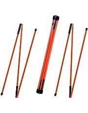 ゴルフアライメントスティック 3つのセクション折りたたみ式練習用ロッド、狙い、パッティング、スイングトレーナー、肩、腰、姿勢矯正用ゴルフ 練習器具 トレーニングエイド