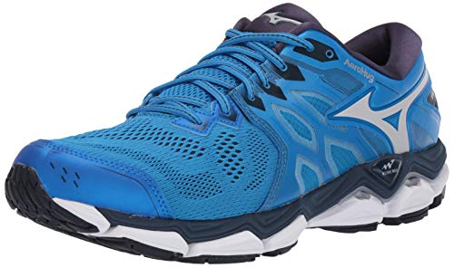 Mizuno Men's Wave Horizon 3 Running Shoe, Brilliant Blue-Cloud, 10.5 D US