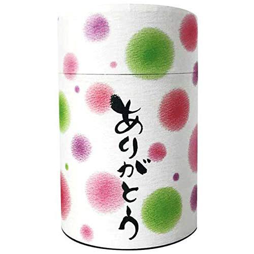 「ありがとう」(煎茶)わだのめぐみ水玉パッケージのギフト1缶【結婚式 お年賀 日本土産 お茶】