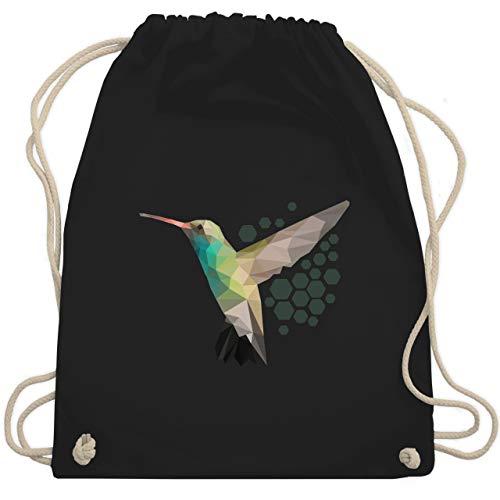Shirtracer Vogel Zubehör Vögel Deko - Colibri - Unisize - Schwarz - turnbeutel vögel - WM110 - Turnbeutel und Stoffbeutel aus Baumwolle