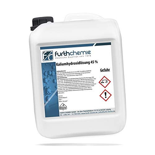 Kaliumhydroxidlösung, Kalilauge, KOH, Ätzkali 45% | 1 L, 5 L, 10 L