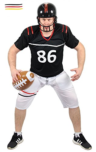 Quarterback Kostüm für Herren American Football Spieler Sportler Fasching Karneval Motto Party Größe XL