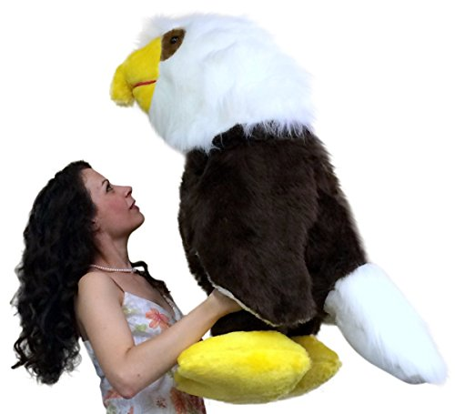 Big Plush American Made 3 Foot Giant Stuffed Eagle 36 Inch Soft Brown Bird Made in USA