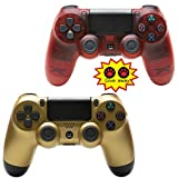 NQH Wireless-Controller für Playstation 4, Crystal Red and Golden