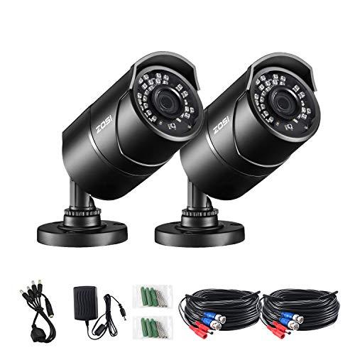 ZOSI 1080P Caméra de Surveillance Extérieure en Métal IP67 avec Vision Nocturne de 30 Mètres 36pcs...