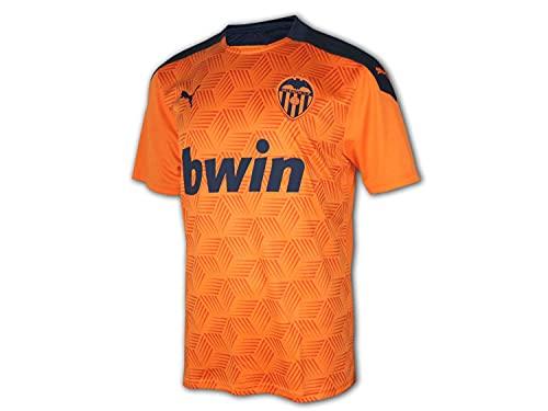 PUMA VCF Away Shirt Replica Camiseta, Hombre, Vibrant Orange-Peacoat, M