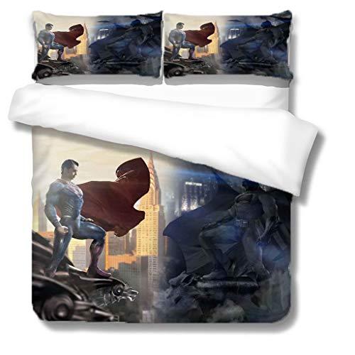 NBAOBAO Marvel Superman - Set di biancheria da letto per ragazzi con copripiumino e federa per ragazzi (Superman1, Double200 x 200 cm)