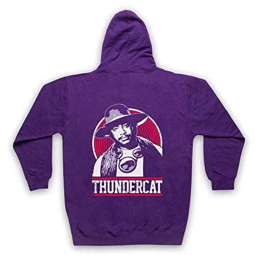 The Guns Of Brixton Thundercat Tribute Sweat a Capuche avec Un Fermeture Eclair des Adultes, Violet, XL