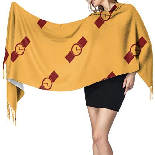 Yushg Inicio Ideas de moda Accesorios Reloj para mujer Chal Wrap Lady Scarf Bufanda de viaje 77x27inch / 196x68cm Large Soft Pashmina Extra Warm