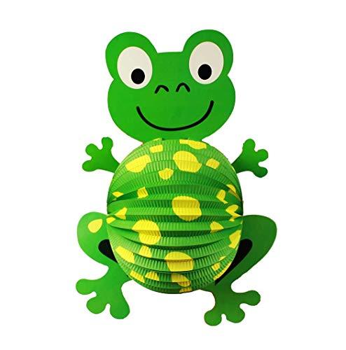 HAAC Lampion Laterne Frosch Farbe grün 42 cm für Feste Laternenzug