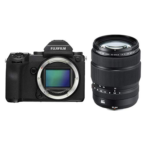 Fujifilm GFX 50S 51.4MP Medium Format Mirrorless Camera (Body Only) with Electronic Viewfinder, Full HD 1080p Video GF 32-64mm f/4 R LM WR Wide-Angle Zoom Lens