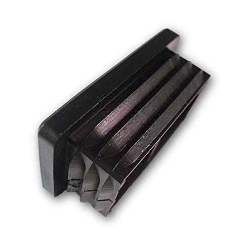 OL 20 Stopfen, schwarz, für Rechteckige Rohre, Aussenmaß 30x10mm