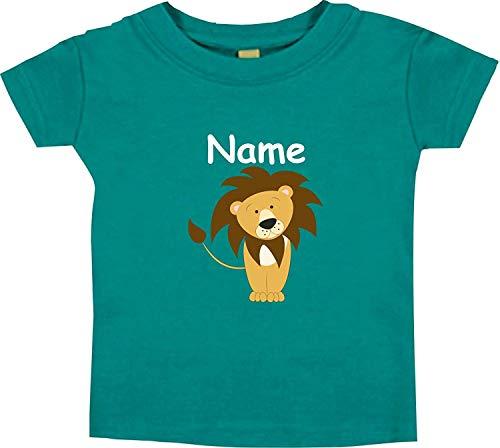 Shirtinstyle Bébé Haut, Lion Animal Motifs Nom Souhaité - Jade, 18-24 Monate