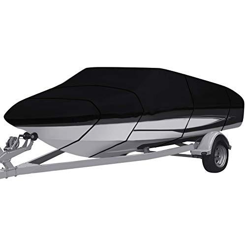 Bâche de bateau pour remorque, très résistante 210D/420D de qualité marine en tissu Oxford imperméable, Runabout Jumbo Bateau Speedboat pêche, 210d, 11-13FT