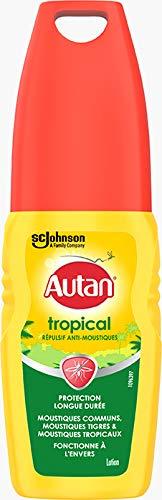 Autan® Tropical Spray Lotion, lotion protectrice anti-moustiques pour le corps, 100ml