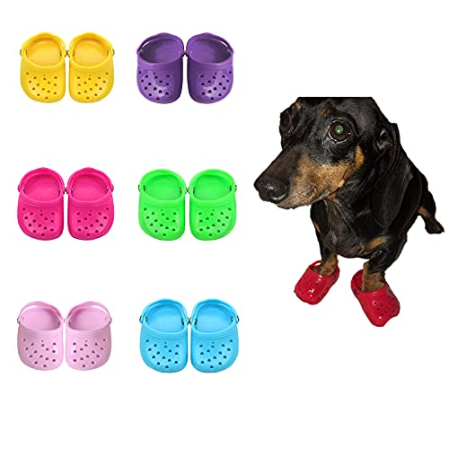 TikTok Pet Dog Shoes, Breathable Soft Mesh Dog Sandals with Rugged Anti-Slip Sole, Lovely Dog Shoes...