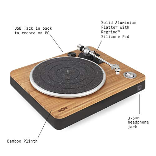 House of Marley platine Stir It Up - Platine Vinyle, Préampli Stéréo, Port USB, Record LP à PC,...