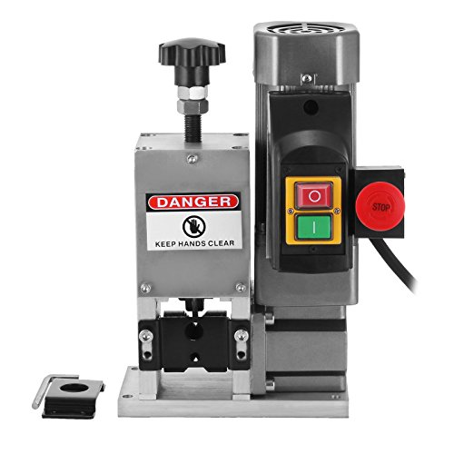 Happybuy Cable Wire Stripping Machine 0.06-0.98 Inch Diameter Wire Stripping Machine 1 Cutting Blade Electric Wire Stripper for cutting and Stripping Scrap Copper Wire