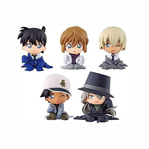 KaiWenLi Detective Conan Series Kudou Shinichi, Haibara Ai, Furuya Rei, Hattori Heiji, Gin/Q Version / 5 Abs/PVC-Material Menschmodell