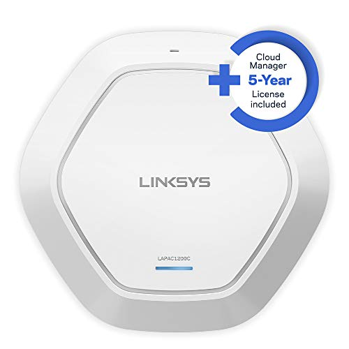 Linksys LAPAC1200C-EU Cloud WLAN Access Point, Dual Band, AC1200, mit einer 5-jährigen Cloud Manager-Lizenz geliefert