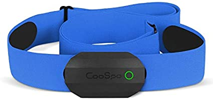 CooSpo Frecuencia Cardíaca Bluetooth Banda Monitor Sensor de Frecuencia Cardíaca Deportivo Ant+ para Garmin Wahoo Suunto...