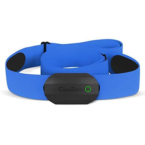 CooSpo Frecuencia Cardíaca Bluetooth Banda Monitor Sensor de Frecuencia Cardíaca Deportivo Ant+ para Garmin Wahoo Suunto Polar UA Run -SB-BU…