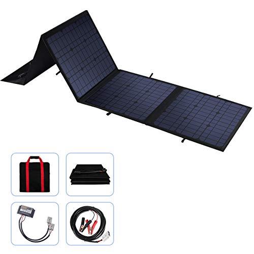 100W 12V Faltbares Solarpanel-Ladegerät mit einem 10A Solar LadeRegler für Wohnmobil, Wohnwagen, Wohnmobil-Rallyes, Messen, Mobile Büros 12V System
