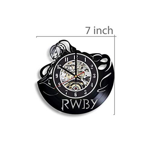 The World of RWBY Vinyl Record Wall Clock, The World of RWBY Anime, The World of RWBY Artwork, Movie Art, Wall Decor, The World of RWBY Clock, Gift for Anime Lover
