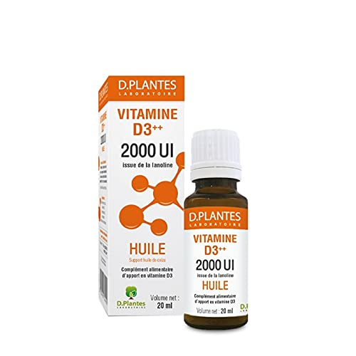 D.Plantes - Vitamine D3++ 2000 UI - Huile - 20ml